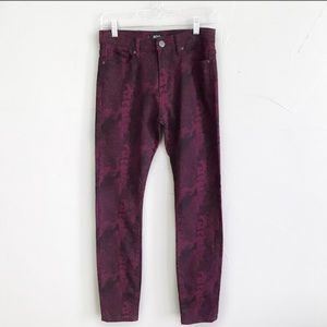 Nwt Urban Outfitters Skinny Jeans Snakeskin 27 f23